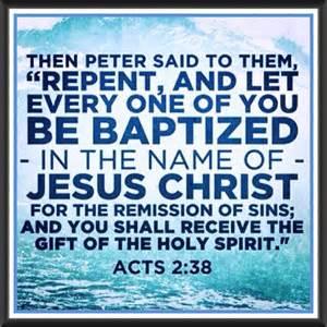 Baptism--Peter
